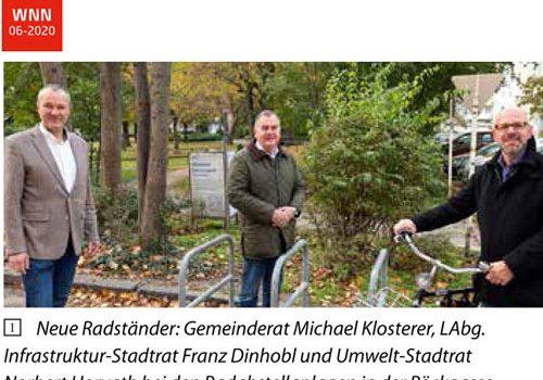 Wiener Neustadt: neues Radparken in der Pöckgasse