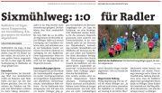 Waidhofen/Thaya: Radfahrer.innen setzen auf Durchfahrt am Sixmühlweg