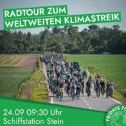 Einladung zur Radtour zum Klimastreik nach St. Pölten