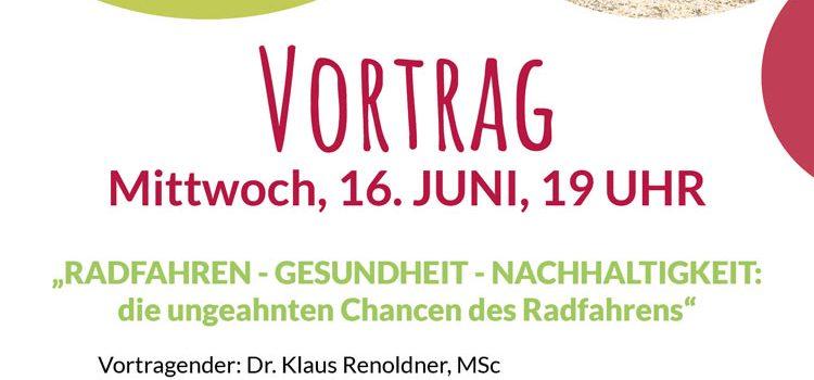 Radfrühling Poysdorf 2021 <br>Vortrag Dr. Klaus Renoldner <br>Radfahren – Gesundheit – Nachhaltigkeit