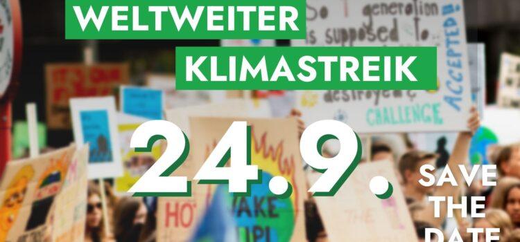 Klimastreik in St. Pölten  |  Kundgebung 24. Sept. 2021 <br>12.30 Uhr Bahnhofplatz St. Pölten – Landhaus – Rathausplatz