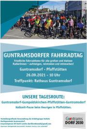 Guntramsdorfer Fahrraddemo 2021 AUFsteigen & MITmachen <br>So., 26. September 2021, 10 Uhr Rathaus Guntramsdorf