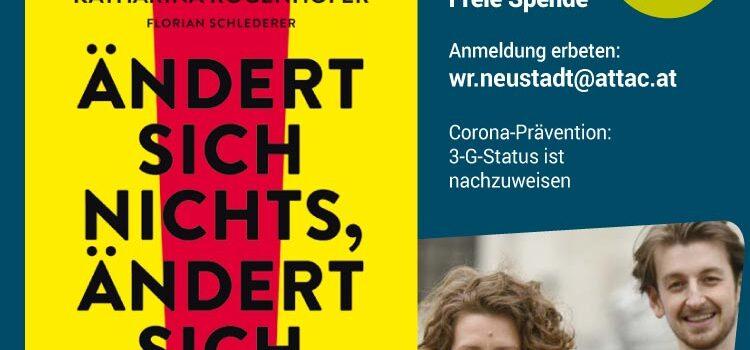 """Buchpräsentation: """"Ändert sich nichts – ändert sich alles"""" <br>Wiener Neustadt, Mi., 10. November 2021 · BORG"""