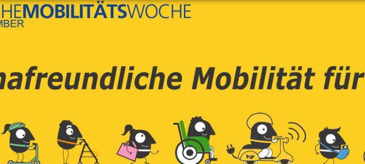 EUROPÄISCHE MOBILITÄTSWOCHE von 16. bis 22. September 2020 <br>Viele Veranstaltungen in Niederösterreich