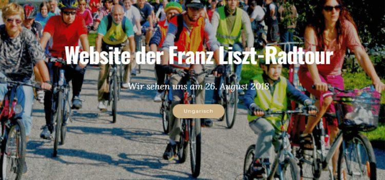 26. August 2018: Franz Liszt-Radtour<br>Sopron nach Raiding (Bgld.) zum Geburtshaus von Franz Liszt