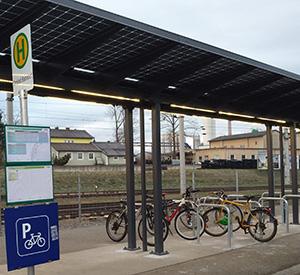Bahnhof Gmünd: <br> Radparken erneuert
