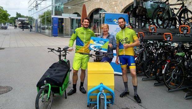 """Giro to Zero""-Radtour besucht Klimamodellregion Baden"
