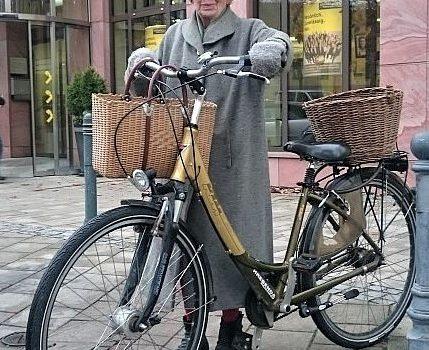 Radlerin des Winters