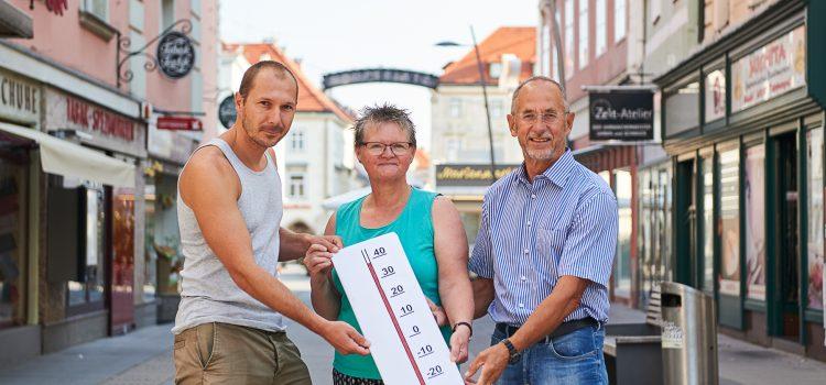 Kampf gegen die Hitze – Umfrage in Wiener Neustadt
