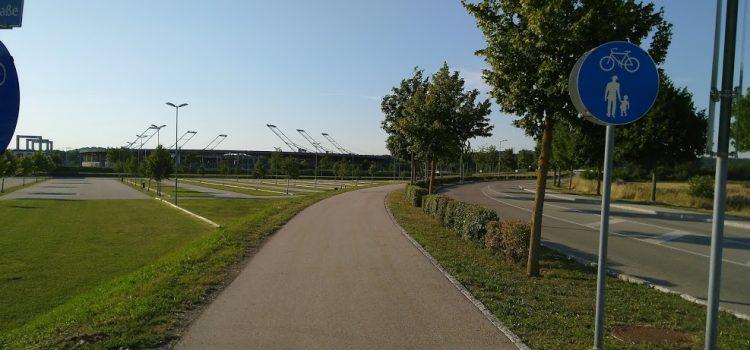 Gemischter Geh- und Radweg