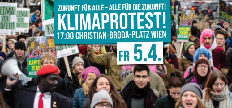 Klimaprotest am 5. April<br>Zukunft für ALLE – ALLE für die Zukunft!