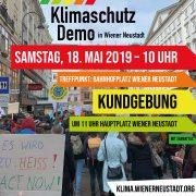 Klimaschutz Demo Wiener Neustadt | Samstag, 18. Mai 2019 · 10 Uhr
