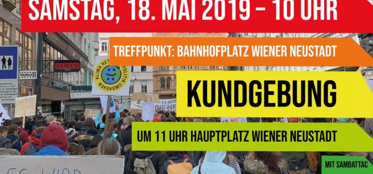 Klimaschutz Demo in Wiener Neustadt <br>18. Mai 2019