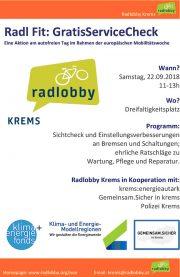 Krems: Radaktionen in der Mobilitätswoche