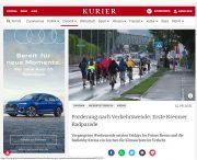 Krems: 1. Radparade im Kurierbericht
