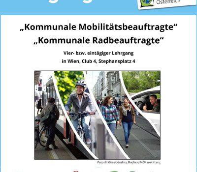 """Klimabündnis: Lehrgang """"Kommunale Mobilitätsbeauftragte"""" 2020 <br>1.-2. Sept. und 30.-31. Oktober 2020"""