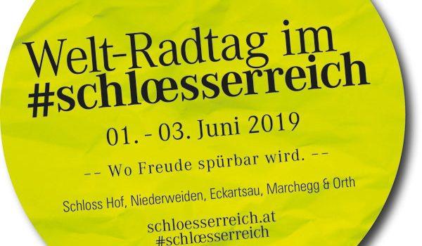 Am 3. Juni 2019 ist Welt-Radtag <br>Für Radfahrer gibts 20% Rabatt im Marchfelder Schlösserreich von 1.-3. Juni