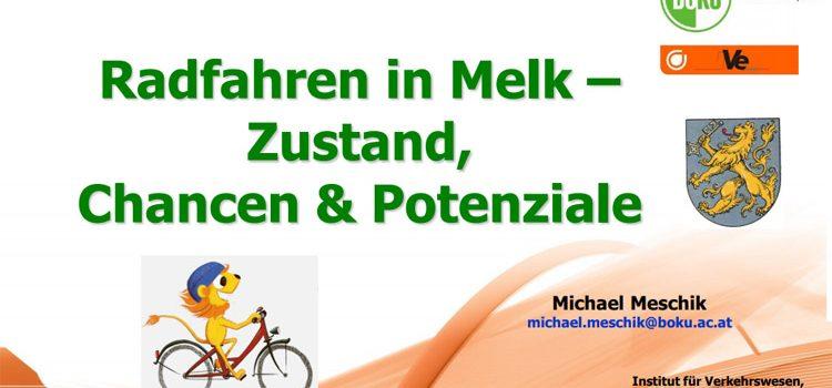 """""""Radfahren in Melk – Zustand, Chancen & Potenziale"""" – Vortrag & Expertentalk"""