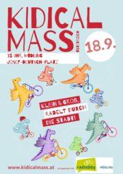 Kinderradparade Kidical Mass in Mödling <br>Sa. 18. September · 15 Uhr