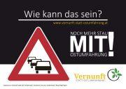 "Vernunft statt Ost""umfahrung"" Wiener Neustadt – aktuelle Flyer"