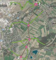 So würde die Ostumfahrung Wiener Neustadt die Radrouten unterbrechen <br>Planungsstand Oktober 2020