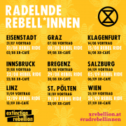Radelnde Rebel*innen starten österreichweite Tour <br>18.-20. Sept. 2020: Aktionstage in St. Pölten