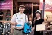 St. Pöltner und St. Pöltnerinnen feierten 200. Geburtstag des Rades Radparade mit historischen Kleidern und Rädern