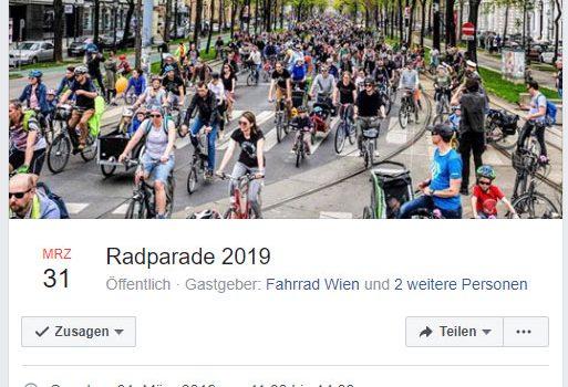 Radtouren zur großen Radparade in Wien · 31. März 2019