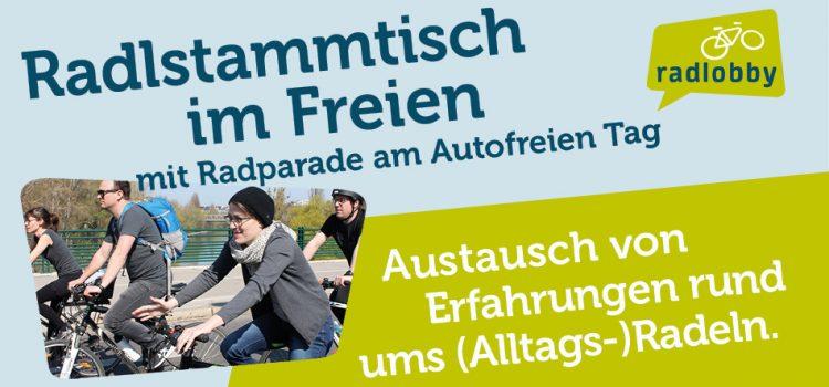 Radlstammtisch im Freien mit Radparade am 22.09.2020