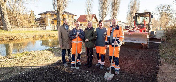 Wiener Neustadt: Verbindung EuroVelo 9 <> EVN Schaukraftwerk Ungarfeld