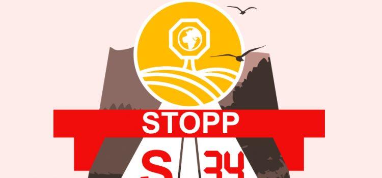 Newsletter mit Einladung zur Kundgebung St. Pölten zu Stopp S34