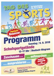 Tag des Sports in Deutsch-Wagram am 09.09.2018