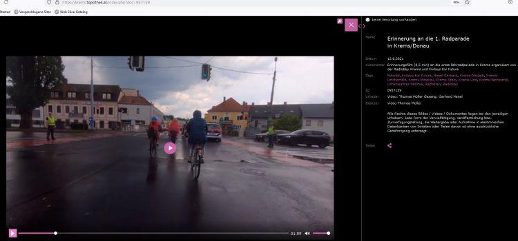 Krems: 1. Radparade Erinnerungsvideo