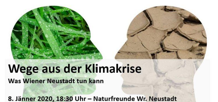 Mi. 8. Jänner <br>Naturfreunden Wiener Neustadt laden zum Gespräch <br>Wege aus der Klimakrise