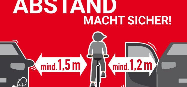 Abstand mit Anstand<br>Wenn Radinfrastruktur zur Gefahr wird