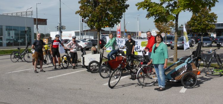 Einkaufen mit dem Rad – Aktion der Radlobby in der Europäischen Mobilitätswoche