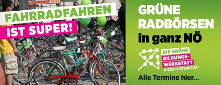 Grüne Radbörsen in ganz Niederösterreich
