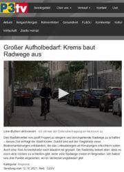 Krems: P3-TV-Beitrag über Radfahren